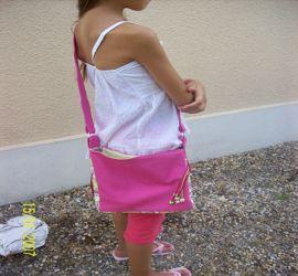 sac rose enfant